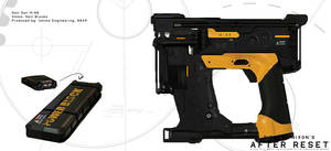 After Reset RPG concepts NAIL GUN M-88 by blackcloudstudios