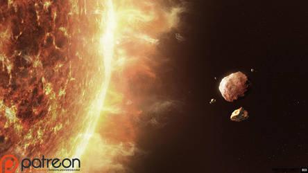 Daudalus Conceptarts: Asteroids, Early Concept by blackcloudstudios