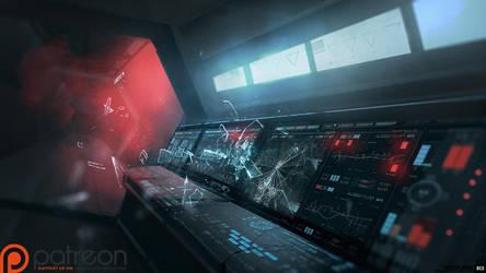 Daudalus Conceptarts: Control Room by blackcloudstudios