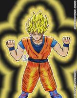 Super Saiyan Goku by Lady-Flame