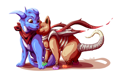 Valentine Cats by Steve-does-art