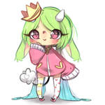 Little rainbow queen by Ashewness