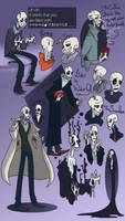 Mystery Man Doodles by vilovine