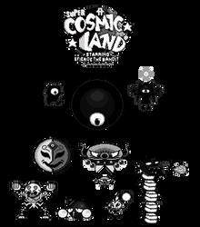 Super Cosmic Land - Boss Sprite Designs by FierceTheBandit