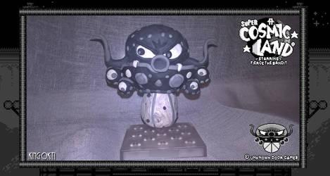 Clay Model - King Okti From Super Cosmic Land by FierceTheBandit