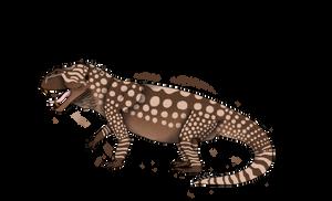 Other creatures: Hyperodapedon mariensis by Austroraptor