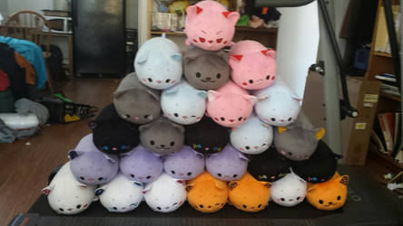 Cat loaf mountain by PlushMayhem