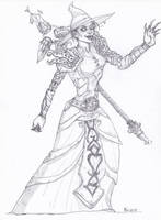 Art-trade - WOW Undead Mage by Drawthulu
