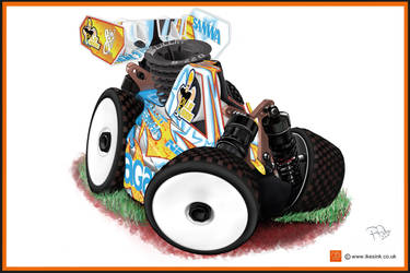 OLLIE CURRIES AGAMA RC NITRO BUGGY CARTOON by PIKEO