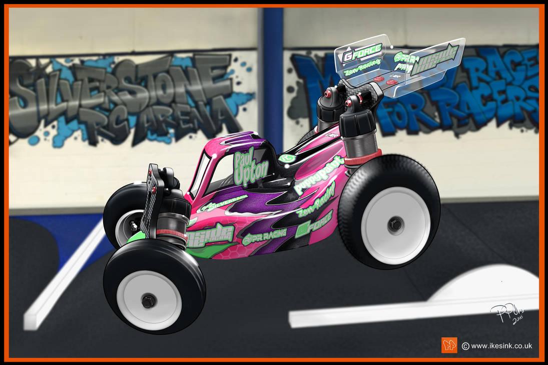 RC Cartoon of PR Racing buggy by PIKEO