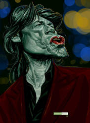 Mick Jagger color by juarezricci