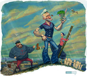 Popeye the Sailor by juarezricci