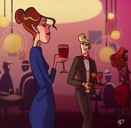 Wine Lady by nikki2290