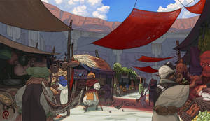 Midday Marketplace by Changinghand