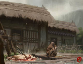 Death of Akechi Mitsuhide by Changinghand