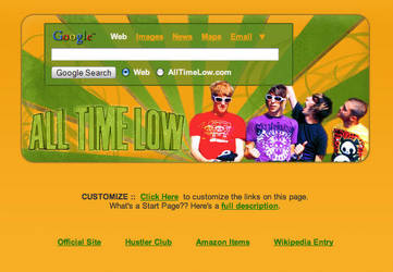 All Time Low Startpage by AwesomeStart