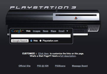 Playstation 3 Startpage by AwesomeStart