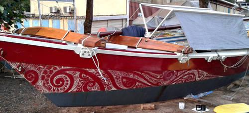 Polynesian Catamaran Design by JarrettOnions