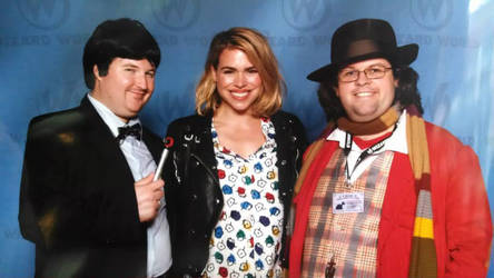 The Second and Fourth Doctors with Rose Tyler by ZeldaFan87