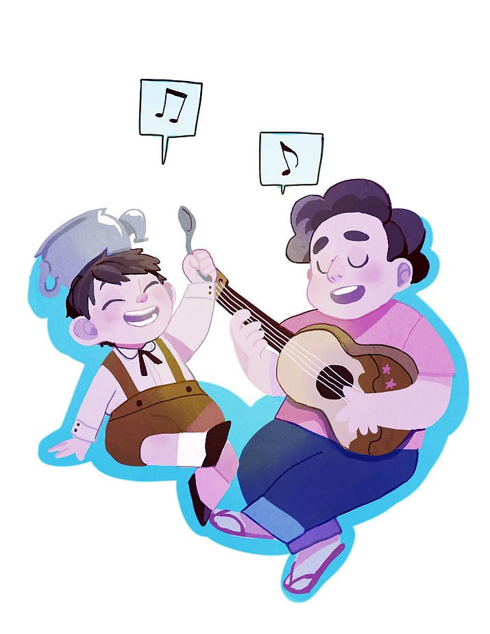 Steven from Steven Universe, Greg from OTGW they have a gift for music... ▶0.5