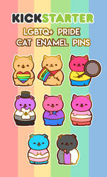 [Kickstarter] LGBTQ+ Pride Cats by moonbeani
