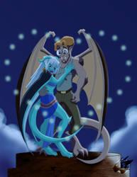 Milo and Kida as Gargoyles by Nanaki-angel23