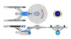 USS Enterprise MK 2 Refit by nichodo
