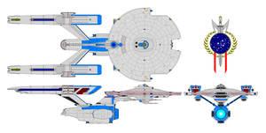 Battleship Constitution class by nichodo