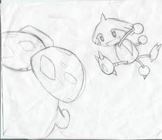 Hitmontop VS. Vileplume by AnimeRascal