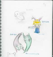 Sketch Book Stuff 1 by AnimeRascal