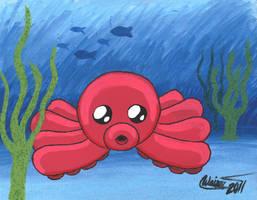 Chibi Octopus by EmeraldTokyo