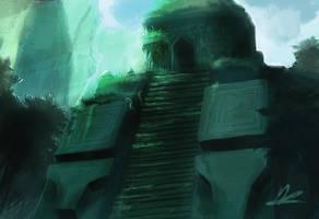 Speedpainting -Bear God's Temple- by SoldatNordsken