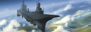 Hangar Airship by SoldatNordsken