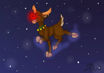 Rudolph with a background by PonyCrown