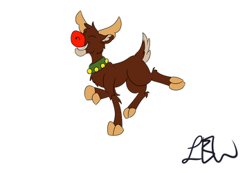 Rudolph Colored by PonyCrown
