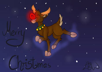 Merry Christmas Rudolph by PonyCrown