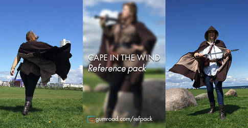 Reference photo's with cape's in the wind by Suzanne-Helmigh