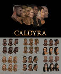 Caldyra facial concept art. by Suzanne-Helmigh