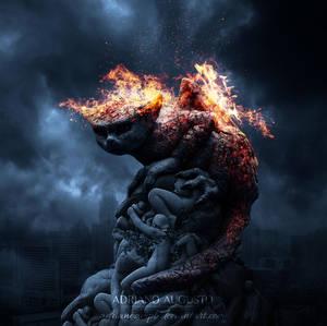 Guardian on Fire by adrianoampb