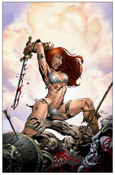 Red Sonja Colors by Sean Ellery by KenHunt