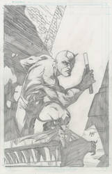 Daredevil pencils by KenHunt