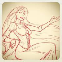 Disney's Rapunzel sketch by DStPierre
