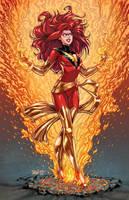 Dark Phoenix Colored by igloinor by DStPierre