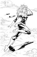 Captain Marvel Lines by DStPierre
