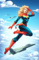 Captain Marvel Colored by DStPierre