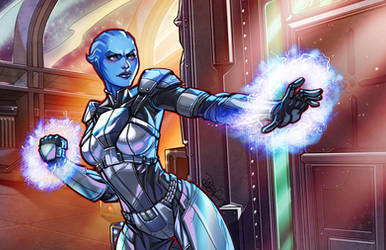 Liara T'Soni Colors by igloinor by DStPierre