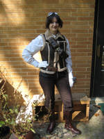 Me in mah Steampunk costume by E1L0n3wy