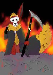 Flaregun the Flareon (Death Cosplay) by ZebMahana