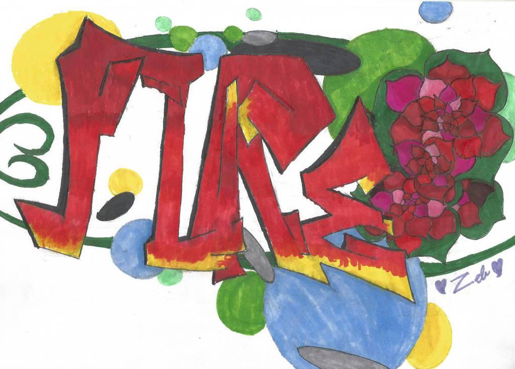 Happy Birthday Flaregun #1: Flare graffiti art by ZebMahana