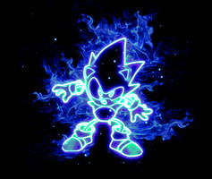 Sonic on fire! by redella
